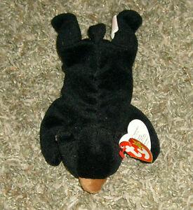 fb0b2738329 TY Original Beanie Baby BLACKIE Bear Date of birth 7-15-94 - New ...