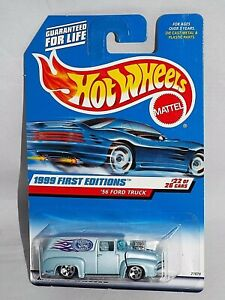 Hot-Wheels-1999-First-Editions-22-039-56-Ford-Truck-Light-Blue-w-5SPs