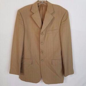 1be2858141 Zandello Mens CL1 Khaki Striped Blazer Suit Jacket Sport Coat Size ...
