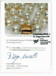 Perlenkette-585-Gold-Diamant-Suedseeperle-44-5cm-Luester-gut-28-Achtkant-ca-0-3ct