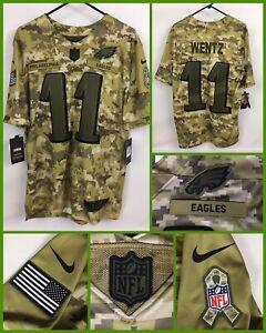 Details about Men's CARSON WENTZ Philadelphia Eagles Salute To Service Military CAMO Jersey M