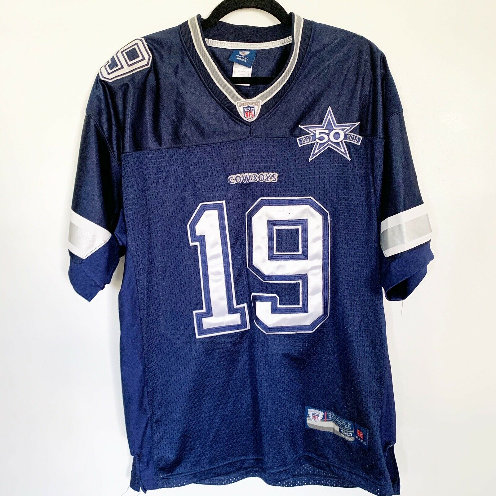 Dallas Cowboys Miles Austin #19 NFL Football Men's Jersey Sz 50 Reebok