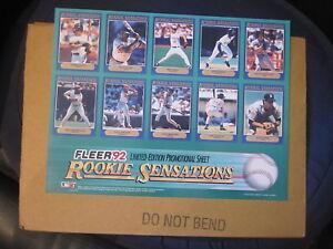 Fleer 1992 Rookie Sensations Promo Sheet