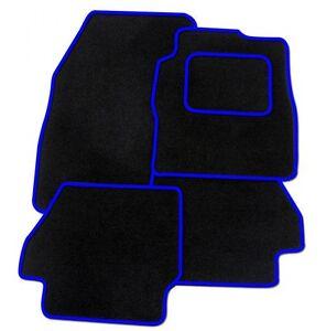 BLACK CAR MATS BLUE HEART HEEL PAD FOR FIAT 500 500L 500X BRAVA BRAVO CROMA
