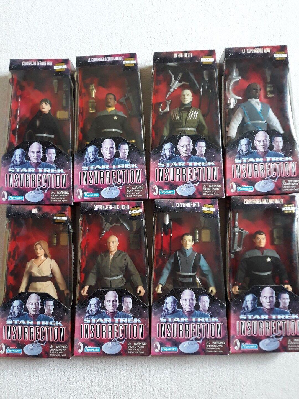Star Trek very Rare set of 8 dolls collectors edition insurrection  9