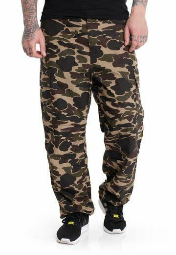 Carhartt Trousers Cargo Pant Columbia Camo Isle W31l34 Rinsed