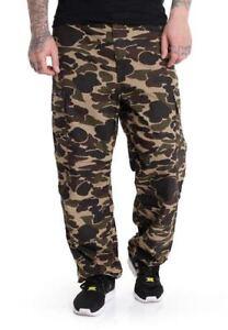 CARHARTT-pantaloni-REGOLARE-CARGO-ANSIMARE-COLUMBIA-Mimetica-Isle-W34L32-Rinsed