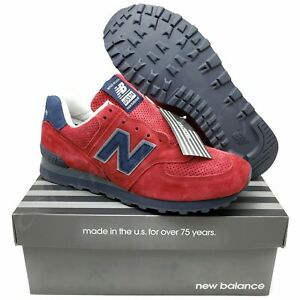 New-Balance-574-Mens-Running-Shoes-Connoisseur-Red-Navy-USA-US574XAD-Choose-Size