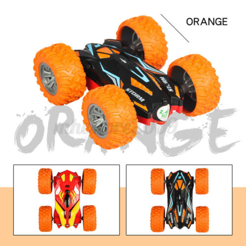 2.4G 4WD RC Stunt Car Remote Control Cars Rotate Double Sided Crawler Truck Toys
