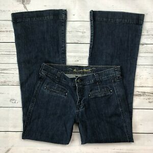 Old-Navy-Sweetheart-Jeans-Size-6-Womens-Flare-Dark-Wash-Denim-Classic-Rise