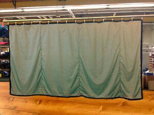 Tan Curtain/Stage Backdrop/Parti<wbr/>tion, Non-FR, 8 H x 15 W