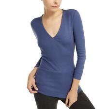 Alfani Womens Smocked V-Neck Shirt Pullover Top Blouse BHFO 1488