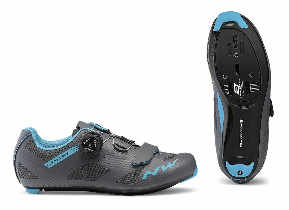 Northwave Storm Damen Rennrad Fahrrad Schuhe grau blau 2019