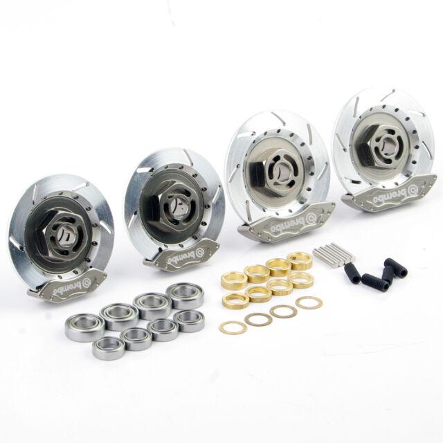 Set RC 1:10 On-Road Racing Car Aluminum Alloy Wheel Rim Brake Disc Set 00145S