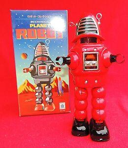 Robot-mecanique-en-tole-PLANET-ROBOT-modele-rouge-ROBBY-de-Planete-interdite