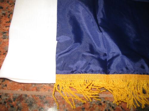 3x5 Kentucky State Poly Nylon Sleeve w// Gold Fringe Flag 3/'x5/' Banner