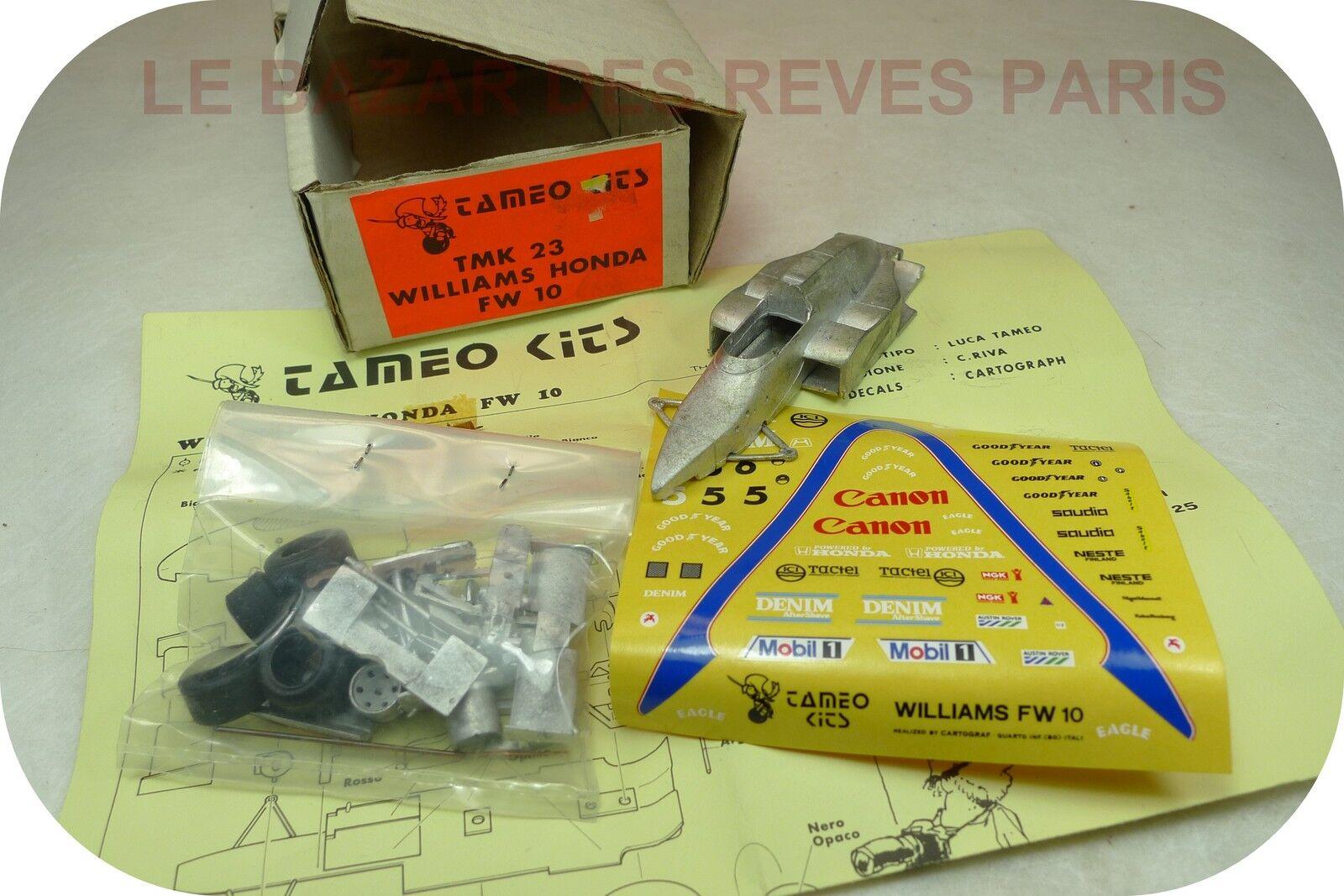 TAMEO Kit  métal .  F1 WILLIAMS HONDA FW10  échelle 1 43