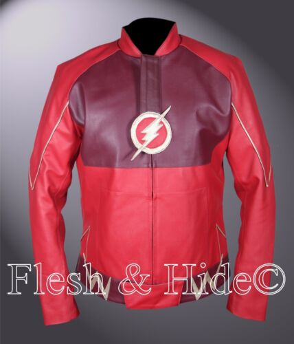 Kid/'s Flash Barry Allen Grant Gustin Red Jacket