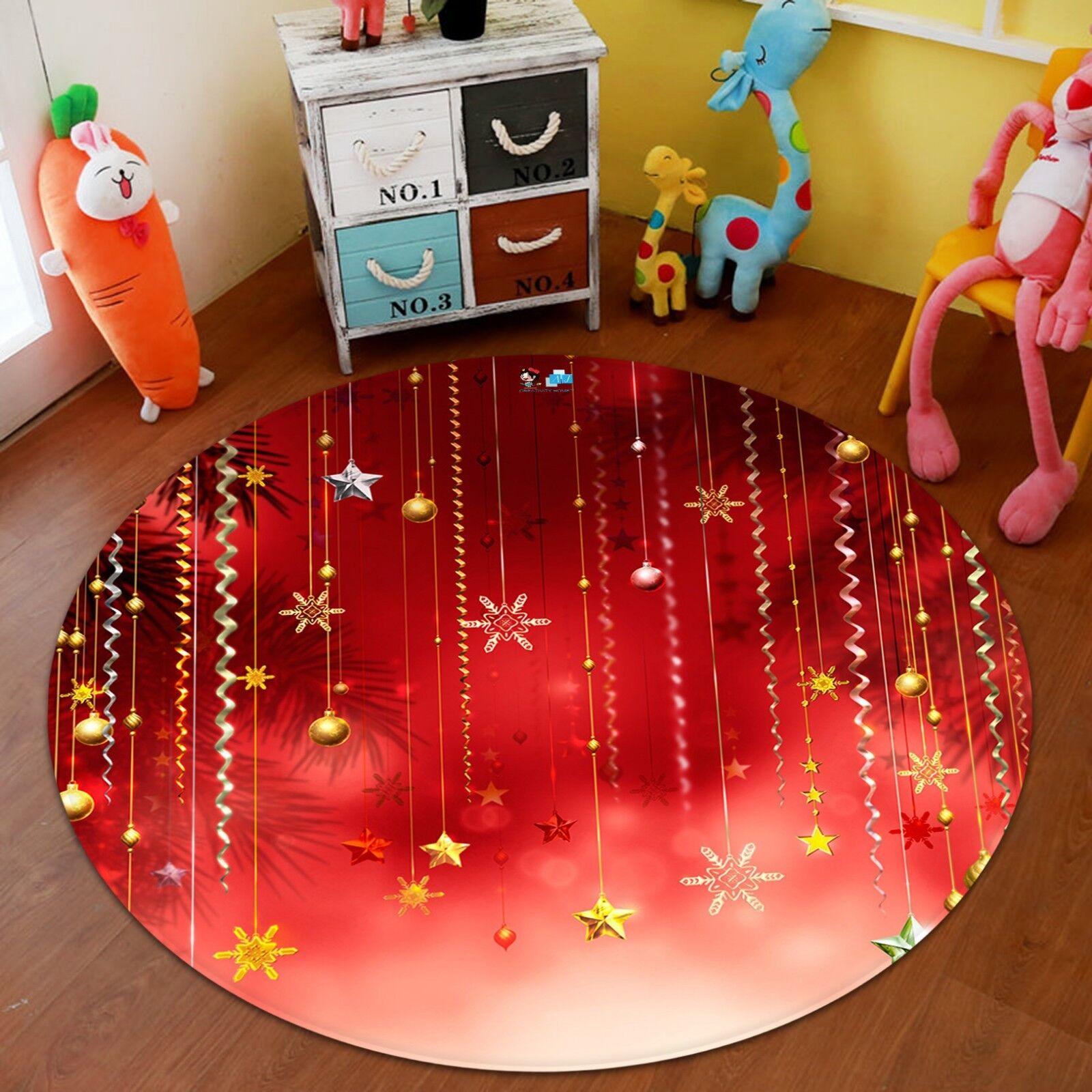 3d Natale Xmas 170 antiscivolo tappeto tappetino vano giri elegante TAPPETO de