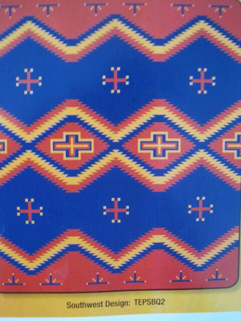 Rancho El Cid Southwestern Cross  Design Plush Throw Blanket - Queen  79  x 95