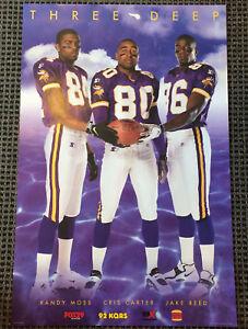 Details About Minnesota Vikings Poster Randy Moss Cris Carter Jake Reed Three 3 Deep
