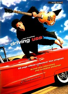 PAUL McCARTNEY 2002 DRIVING USA TOUR CONCERT PROGRAM BOOK BOOKLET / NMT 2 MINT