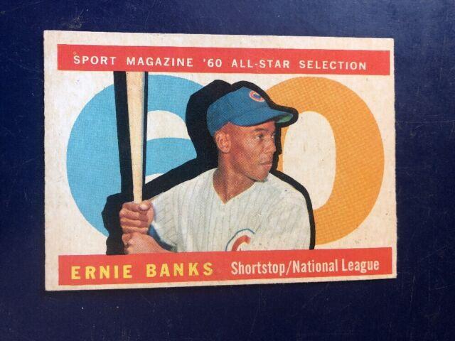 1960 Topps Ernie Banks Chicago Cubs 560 Baseball Card