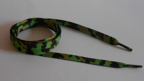 Paire de LACETS camo vert militaire armée
