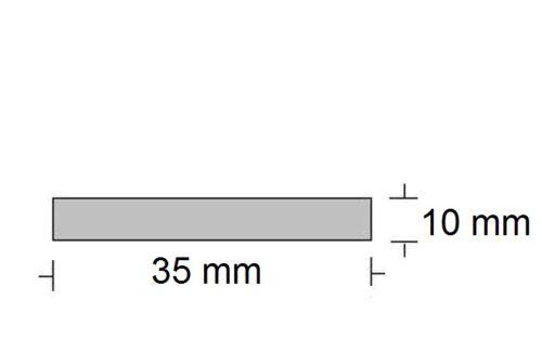 8,00€//m Alu Flachprofil  35 x 10 mm,