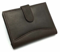 NEW LADIES WOMENS DESIGNER REAL LEATHER PURSE WALLET COIN CARD HOLDER