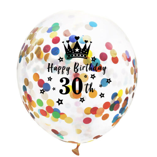 """10pcs//Set 12/"""" Clear Confetti Latex Balloons Birthday Decoration Party Supplies"""