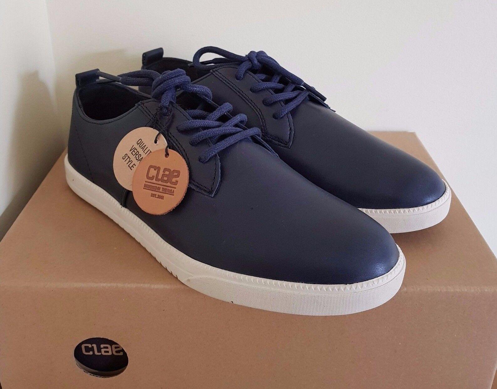 CLAE Ellington Navy Leather men's shoes US 7   EUR 40 (rrp  )