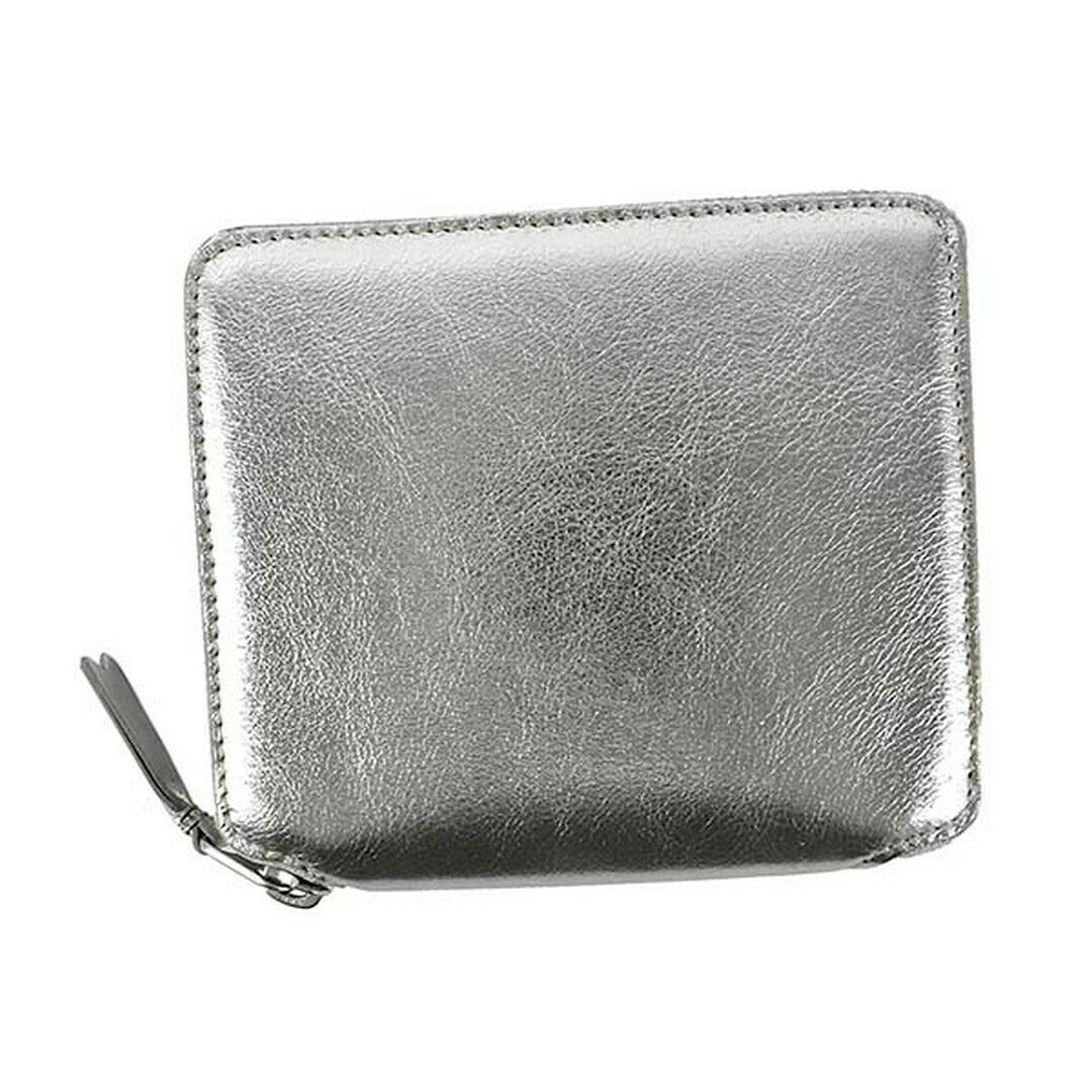 COMME DES GARCONS Bifold wallet with coin purse SA2100G SILVER
