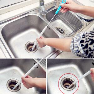 Flexible-Sink-Drain-Snake-Hair-Unblocker-Blocked-Remover-Clean-Brush-Tools-Rod