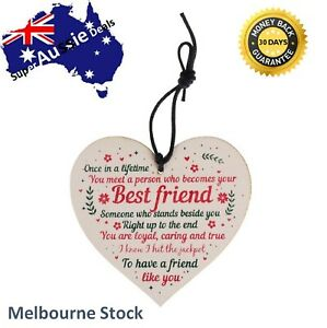 Friendship To Meet A Person That Becomes Your Best Friend Wooden Plaque