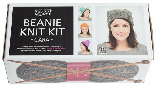Rocket and Rye Knit your own Beanie Kit Red