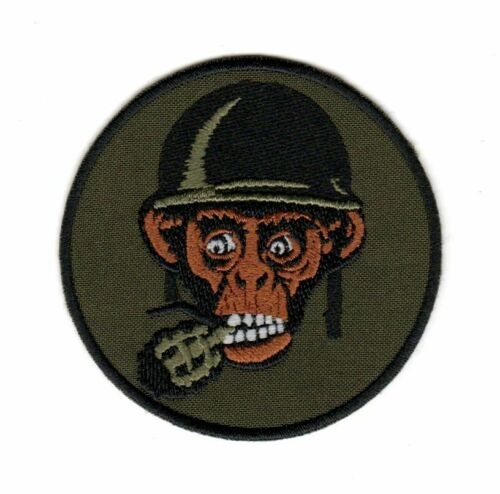Tactical Military Army Badge Morale Patch Monkey Grenade Soldier Helmet