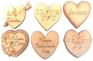 10x WOODEN CROSS SHAPES 6 designs gift craft embellishment scrapbook card art