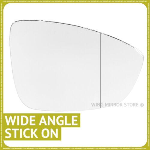Main droite côté conducteur pour VW Jetta 11-17 Aile Miroir Verre Angle Large