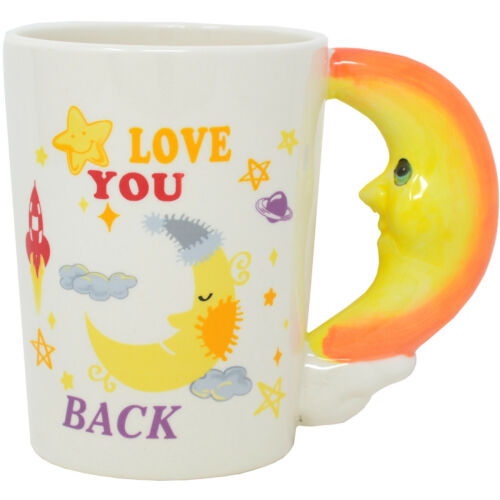 NEW LOVE YOU BACK COFFEE TEA HOT DRINKS MUG CUP XMAS GIFT KITCHEN MOON HANDLE