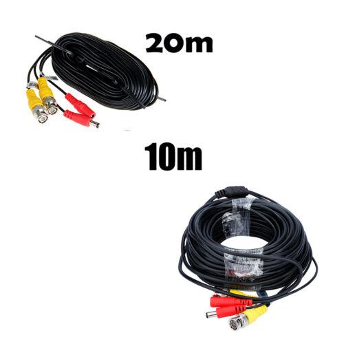Floureon Durable 20M CCTV DVR Sécurité Enregistreur Vidéo Dc puissance BNC Câble