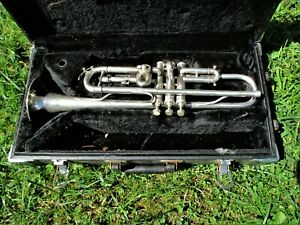 STERLING TRUMPET, 1920'S - 1930'S, MADE IN THE CZECH REPUBLIC, CASE