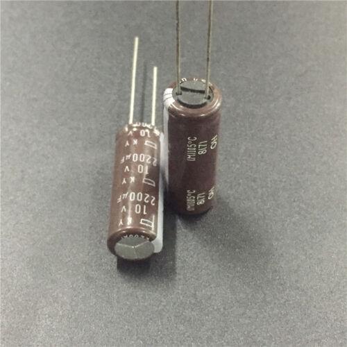 20pcs 10V 2200uF 10V NCC KY 10x30mm Low ESR 10V2200uF PC Motherboard Capacitor