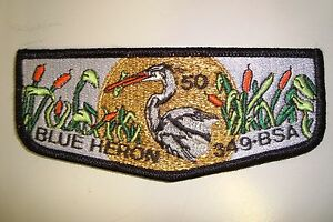 OA-BLUE-HERON-LODGE-349-TIDEWATER-COUNCIL-SCOUT-PATCH-SMY-GMY-50TH-ANN-FLAP
