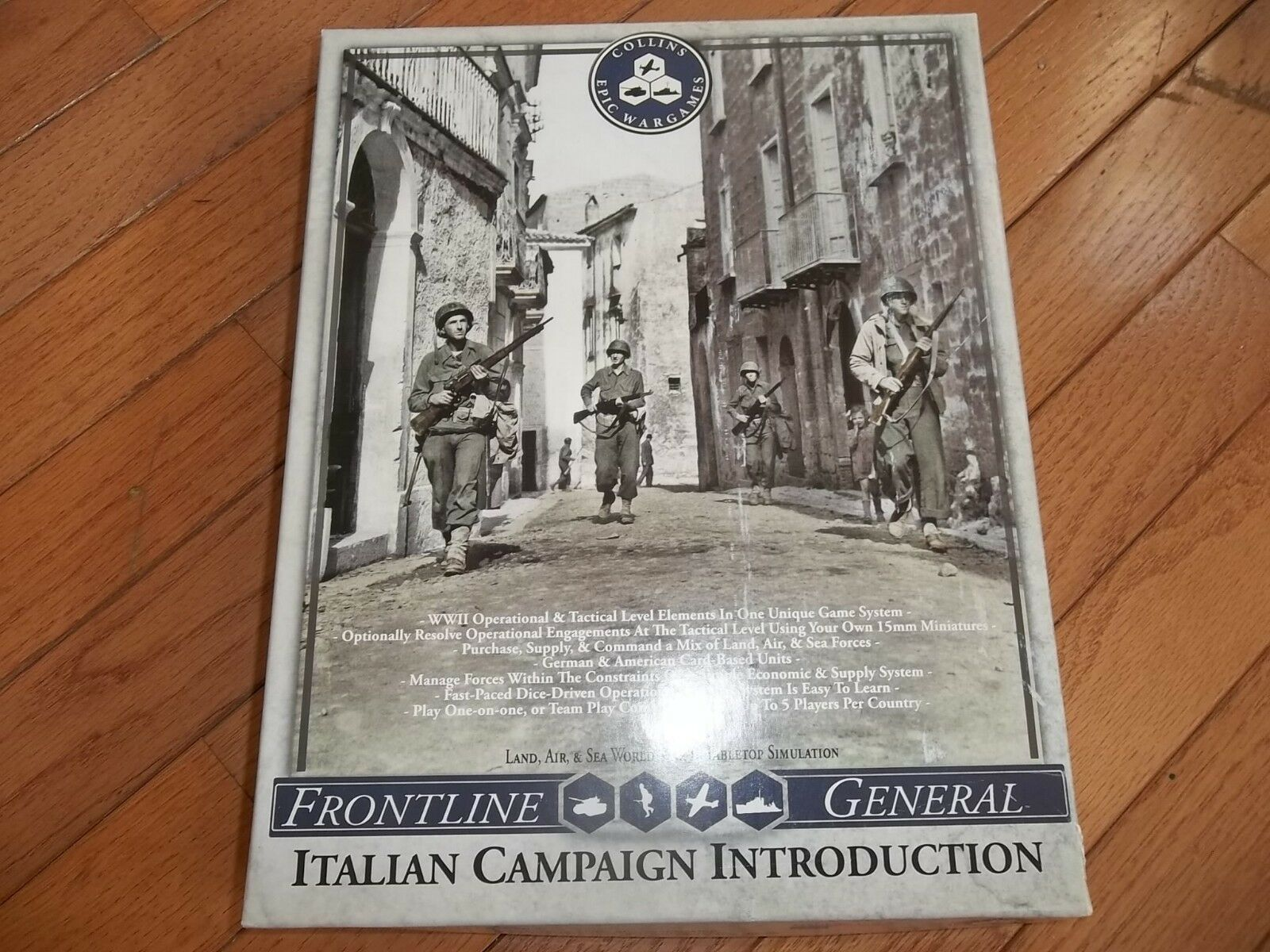 Collins campaña épica Wargames Frontline general italiano introducción