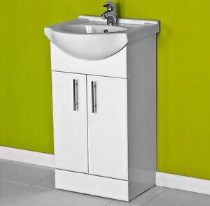 white small compact basin vanity unit bathroom cloakroom. Black Bedroom Furniture Sets. Home Design Ideas