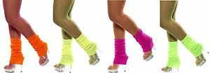 Ladies-Neon-Legwarmers-Ladies-70-039-s-80-039-s-Fancy-Dress-Costume-Accessories