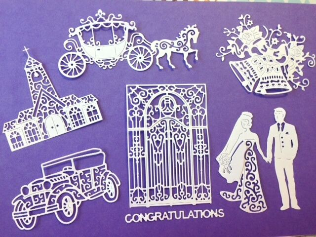 Tattered Lace Wedding Die Cuts