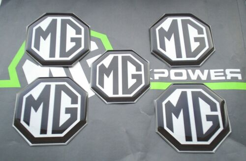 MGF MG F Alloy wheel centre badge inserts + Air bag 5 off Black on Silver