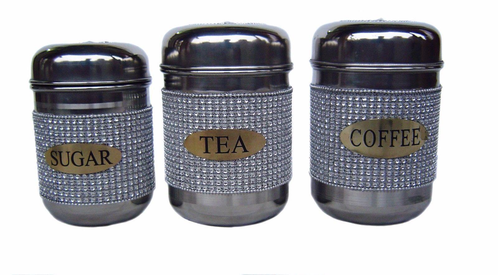 Good en acier inoxydable thé café sucre Pots Bidons Jarre Cuisine contiennent